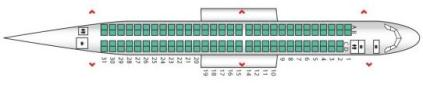 Flybe E190 Seat Map